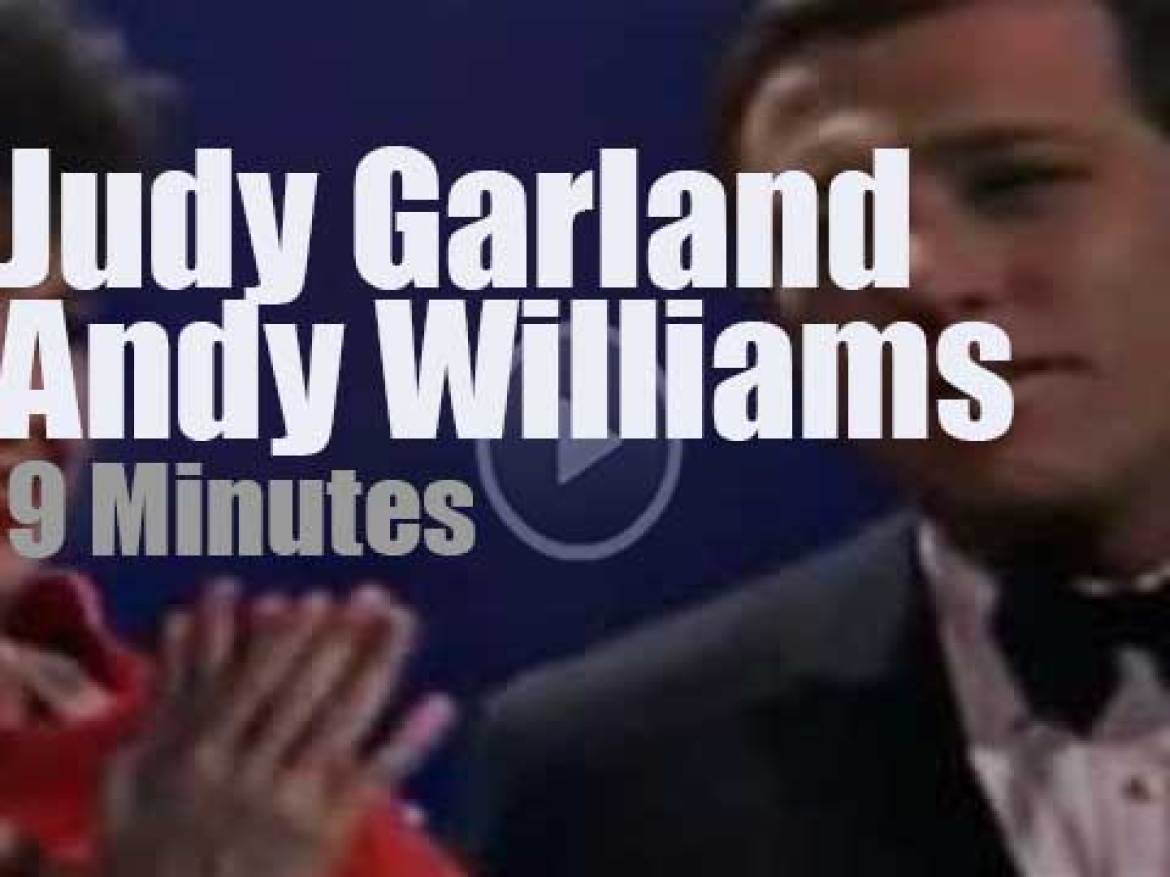 On TV today, Judy Garland with Andy Williams (1965)
