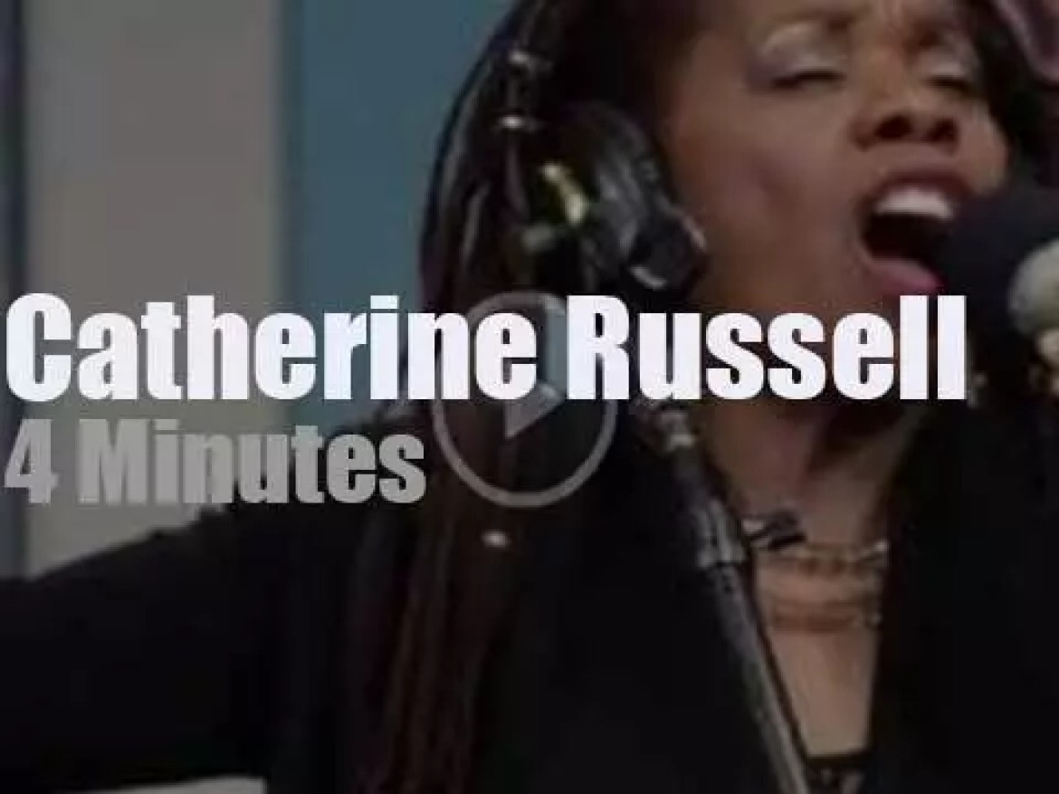 On radio today, Catherine Russell at KNKX (2012)