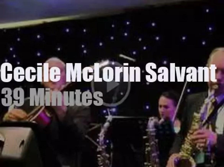 Cecile McLorin Salvant attends a British festival (2012)