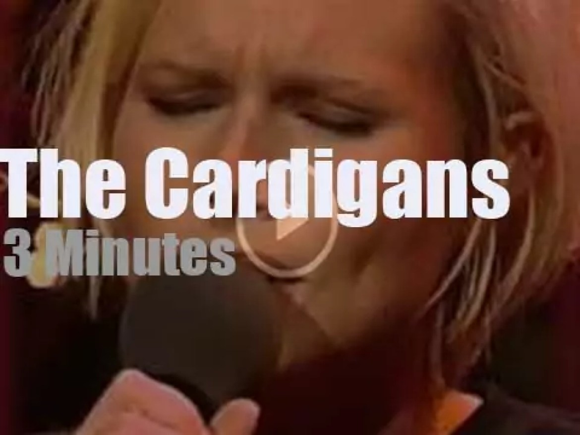 On German TV today, The Cardigans At 'Harald Schmidt Show' (1996)