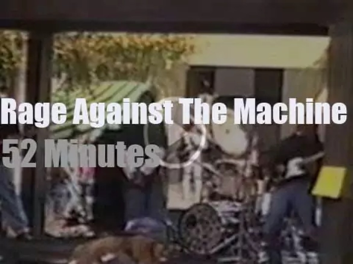 Rage Against The Machine give their first concert (1991)
