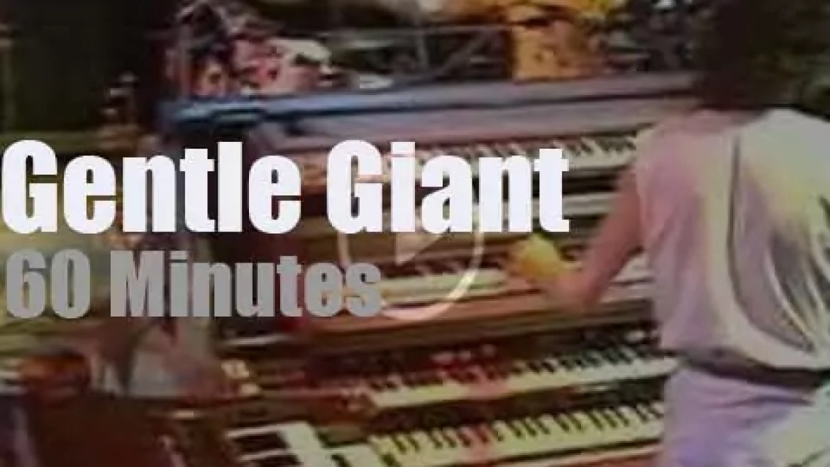 Gentle Giant play for 'BBC Sight and Sound' (1978)