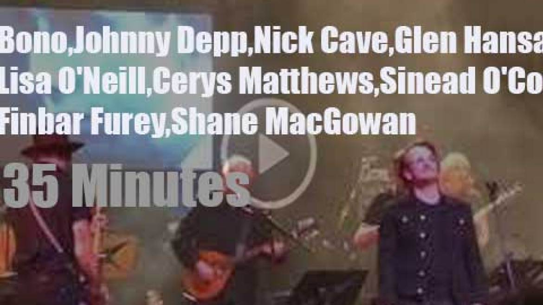 Bono, Johnny, Nick et al celebrate Shane MacGowan's 60th birtday (2018)