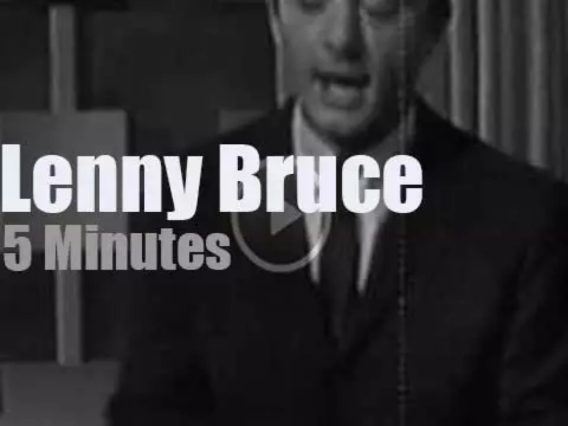 On TV today, Lenny Bruce at 'The Steve Allen Show' (1959)
