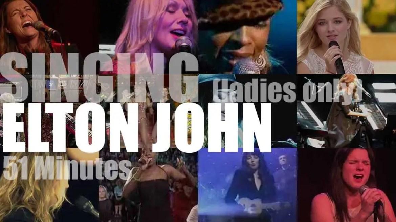 Singing (Ladies only)  Elton John