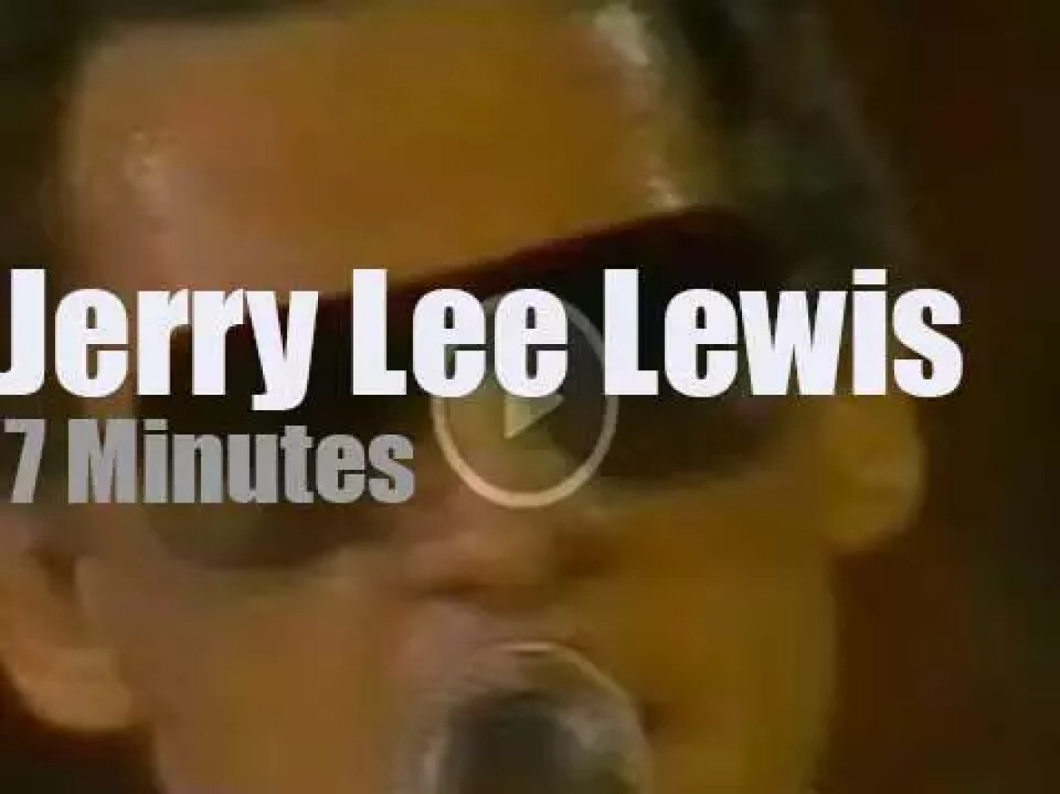 Jerry Lee Lewis kills at the 'Country Music Festival' in Francfort (1982)