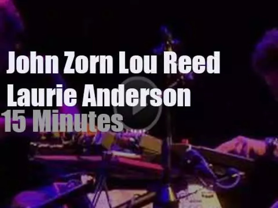 John Zorn, Lou Reed and Laurie Anderson support Japan  (2011)