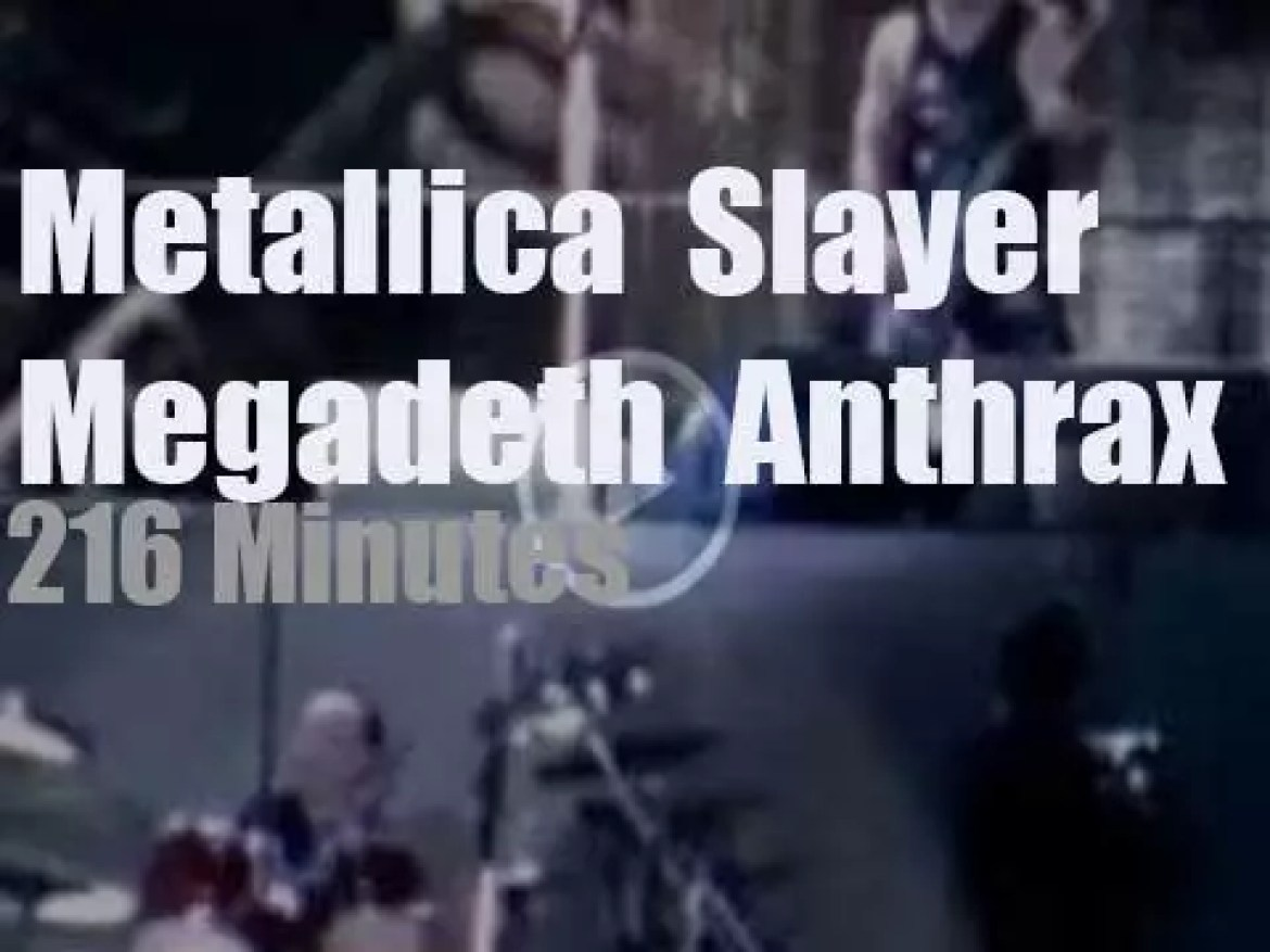 Metallica, Slayer, Megadeth and Anthrax are 'The Big 4' (2011)