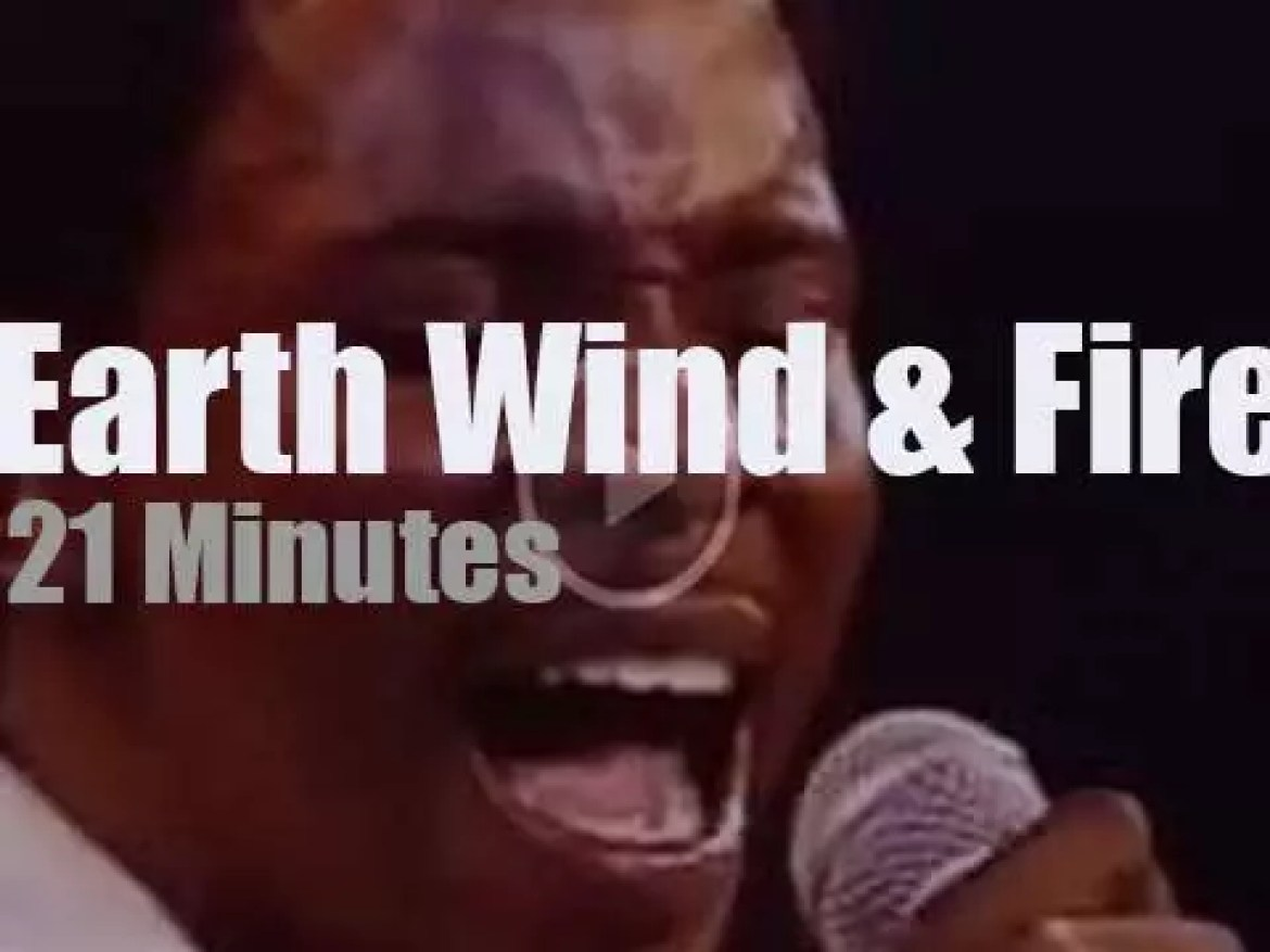 On TV today, Earth Wind & Fire at 'Midnight Special' (1975)