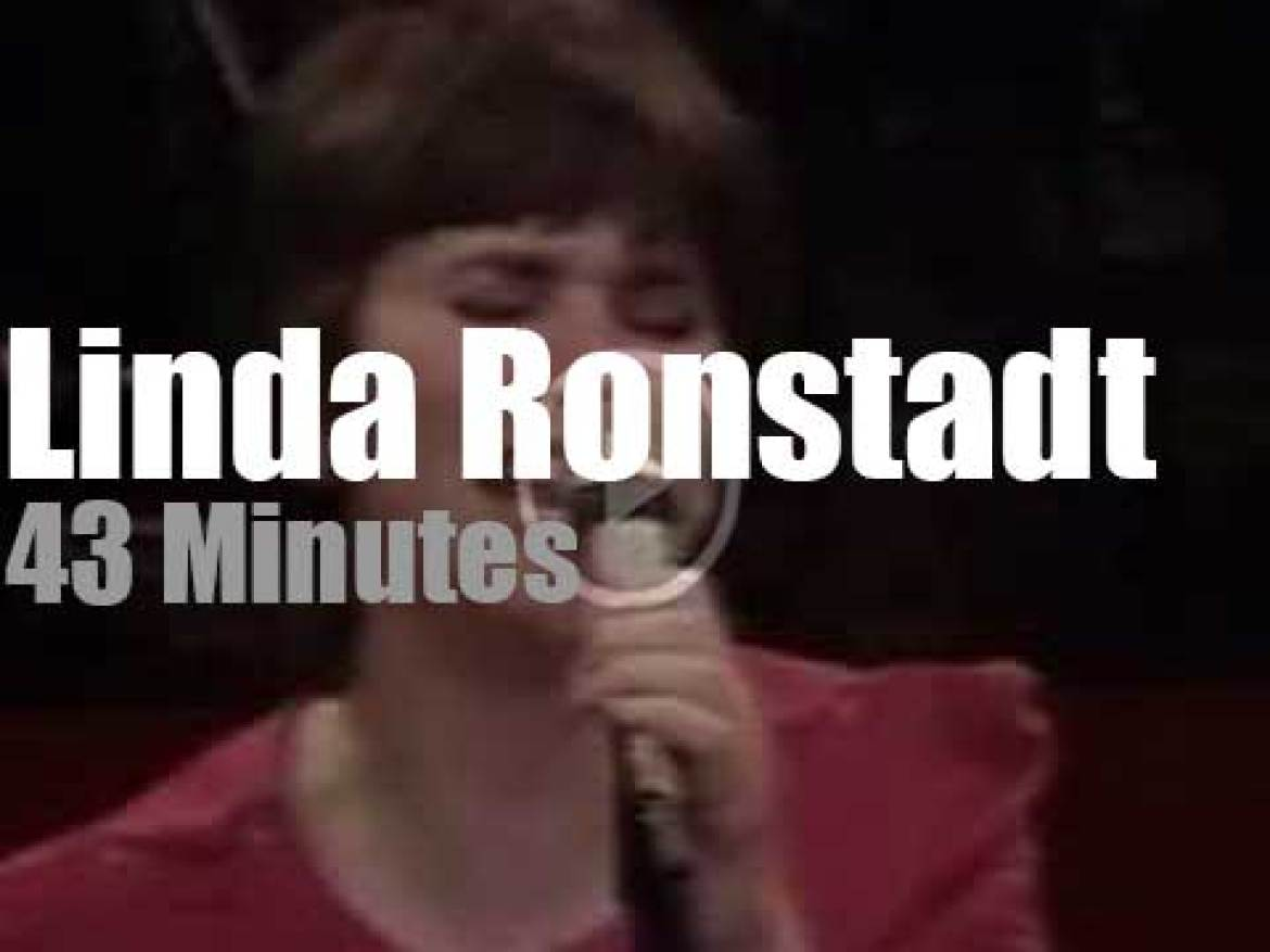 On TV today, Linda Ronstadt in concert on HBO  (1980)