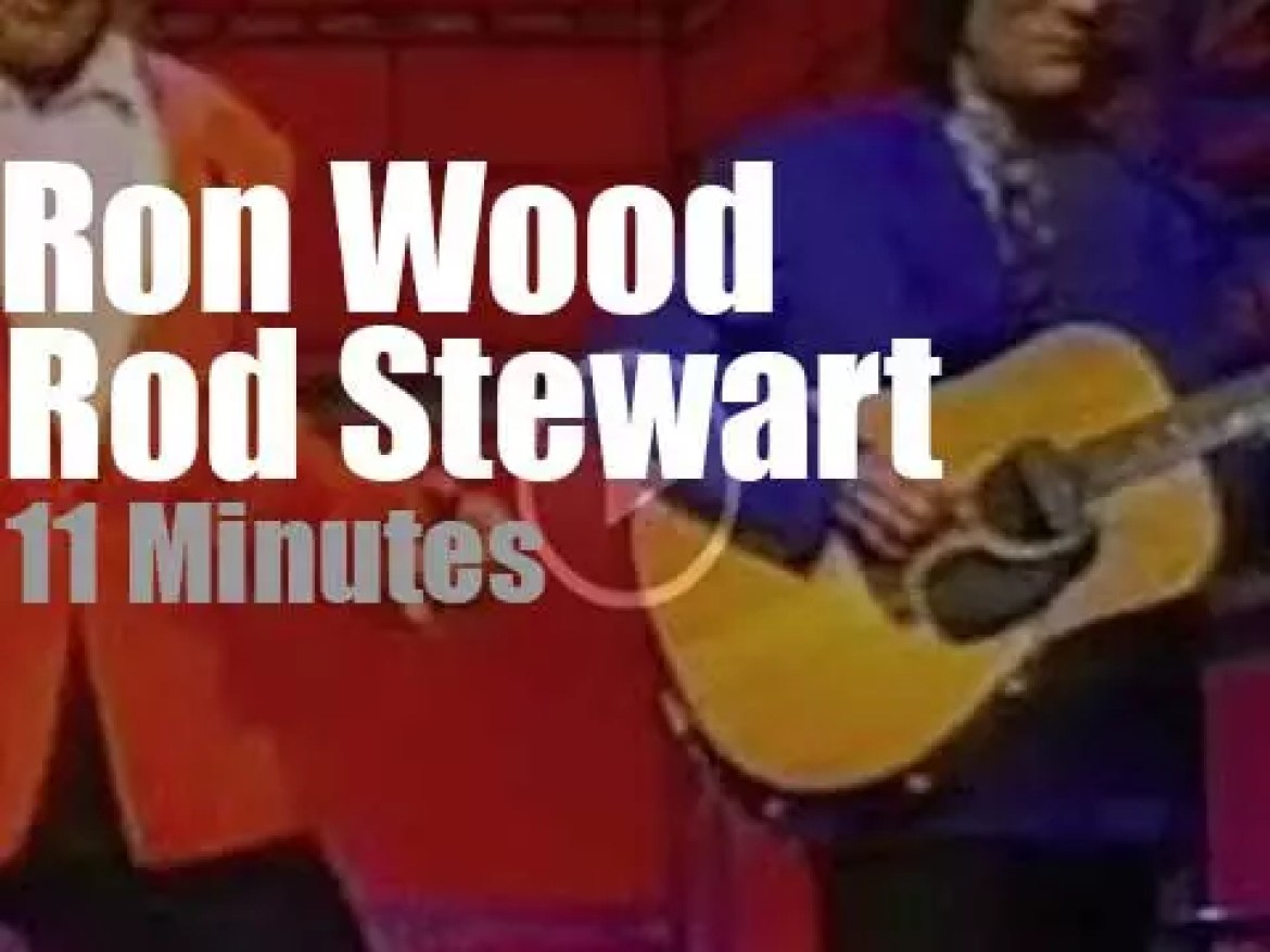 On TV today, Rod Stewart & Ron Wood at 'Late Night' (1993)