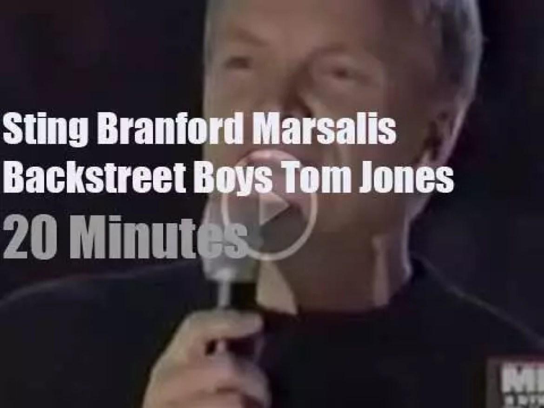With Sting, Branford Marsalis et al 'Men Strike Back' on VH1 (2000)