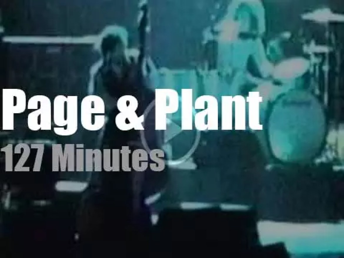 Ex Cure Porl Thompson sits in with Page & Plant(1995)