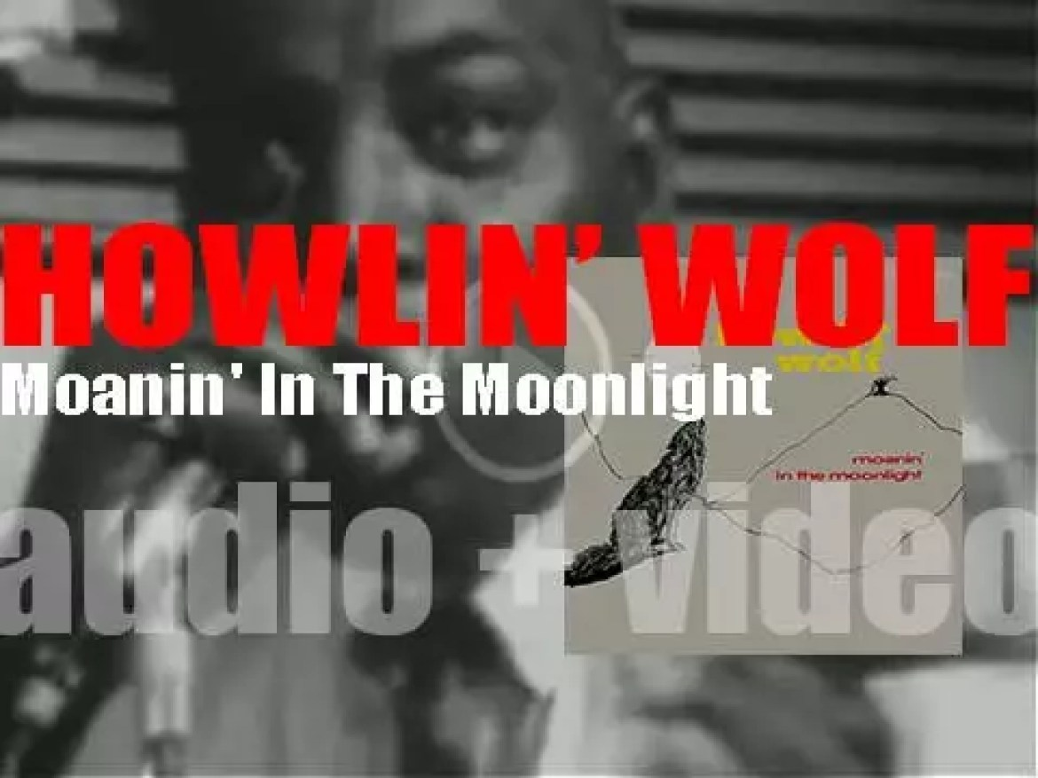 Howlin' Wolf begins the recording in Memphis of his debut album 'Moanin' In The Moonlight' (1951)