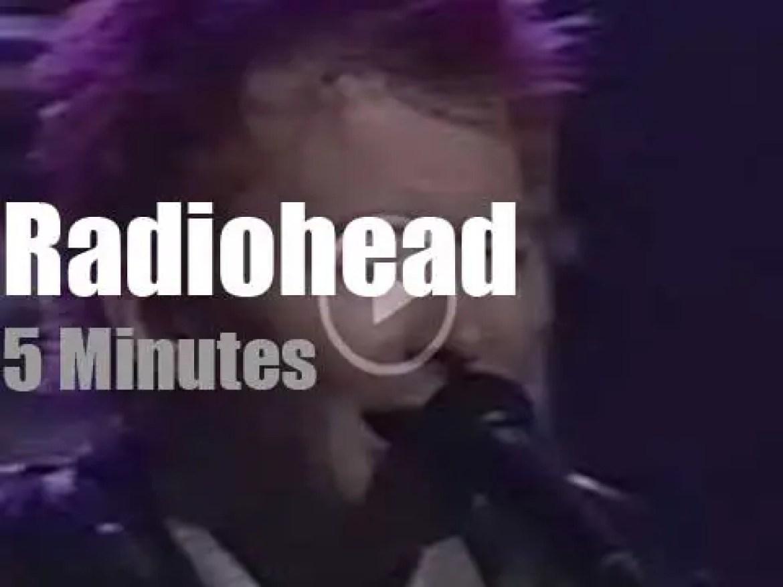 On TV today, Radiohead with Conan O'Brien (1995)
