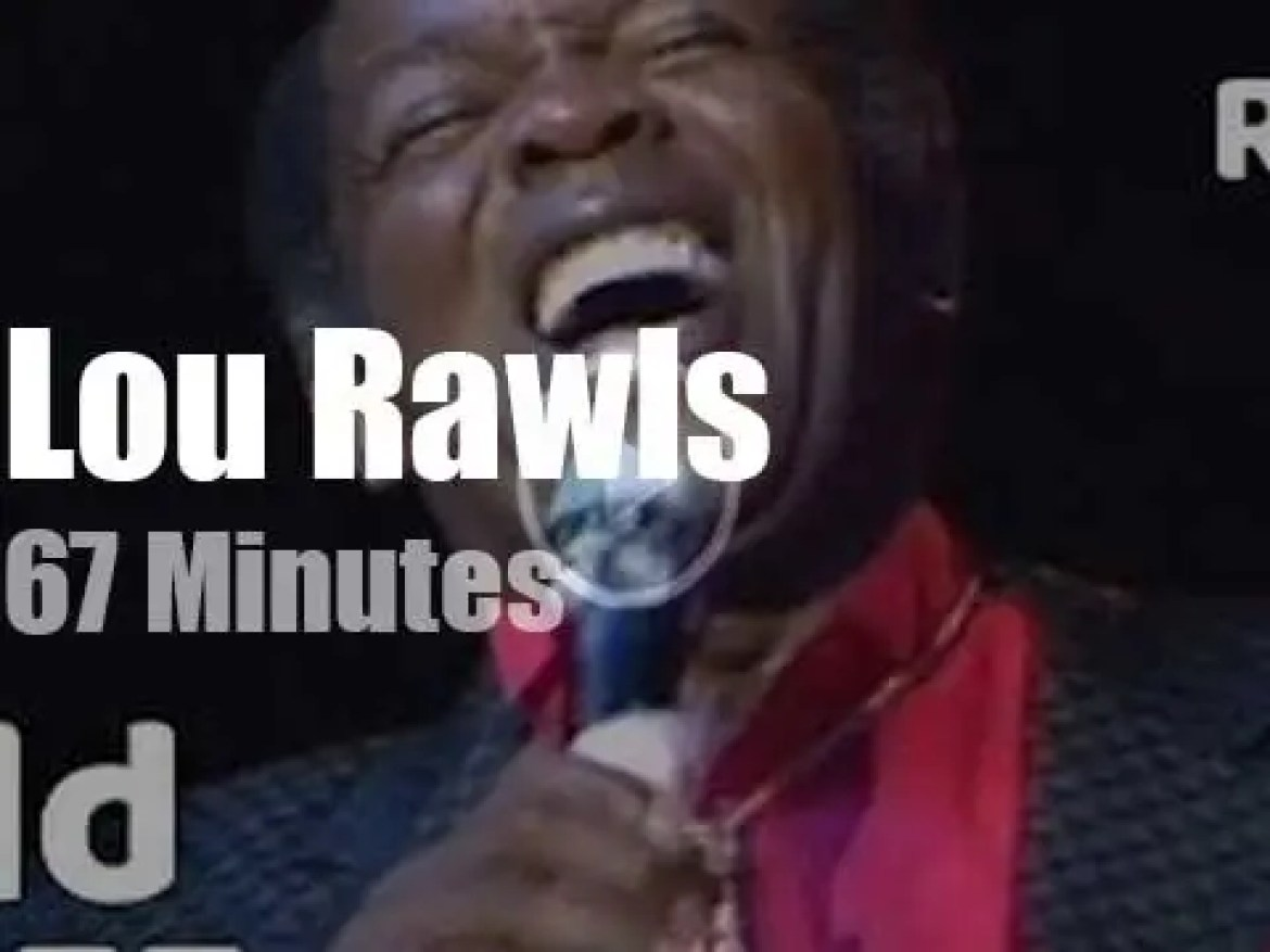 Lou Rawls 'croons' in Holland (1989)