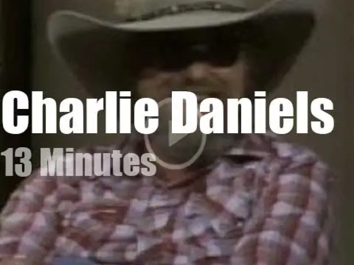 On TV today, Charlie Daniels with David Letterman (1982)