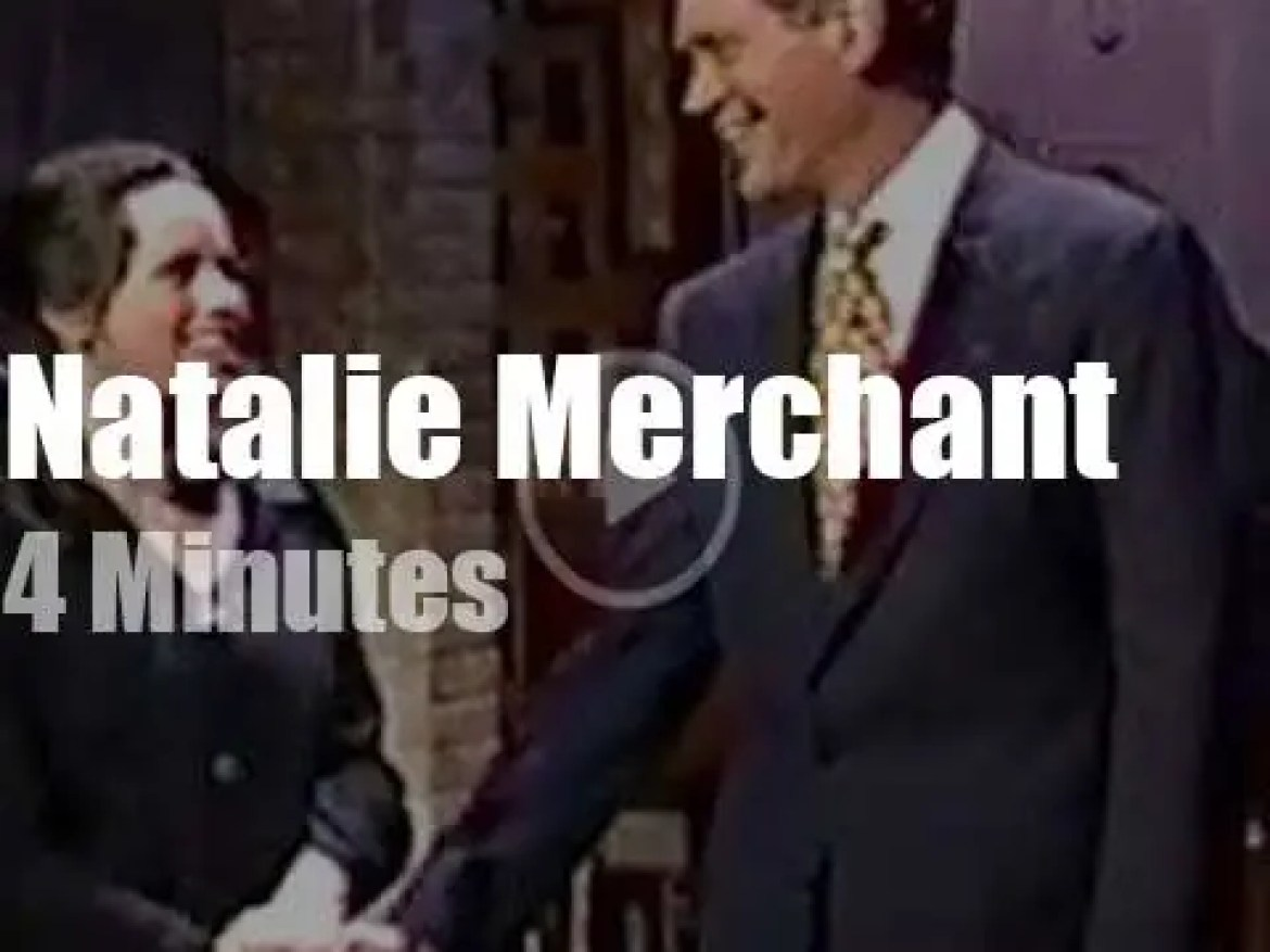 On TV today, Natalie Merchant with David Letterman (1995)