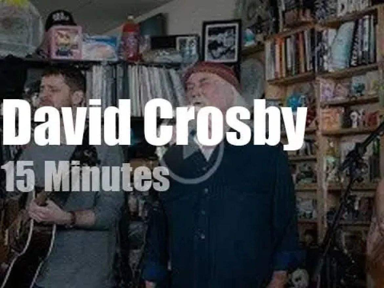 On TV today, David Crosby at 'NPR Music Tiny Desk' (2019)