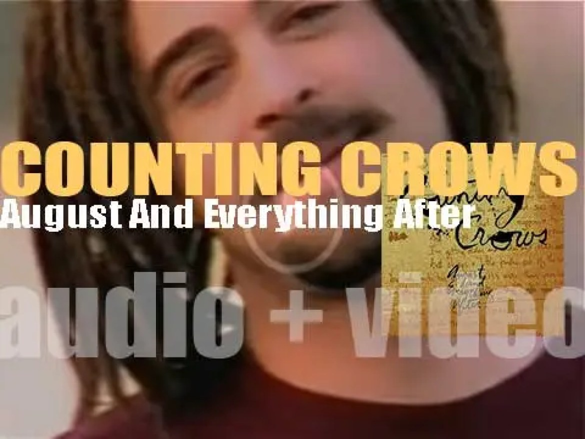 Geffen publish Counting Crows' debut album : 'August And Everything After' featuring 'Mr. Jones' (1993)