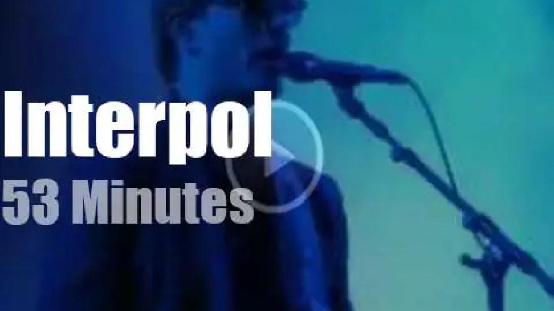 Interpol rock Austin (2019)