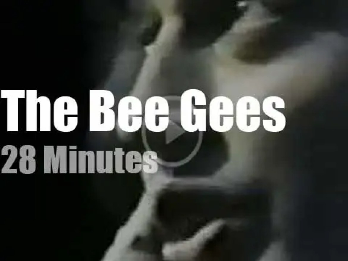 Japanese TV tapes The Bee Gees (1973)