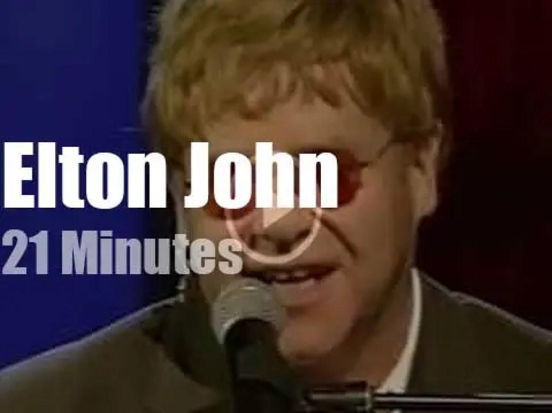 On British TV today, Elton John with Michael Parkinson (2001)