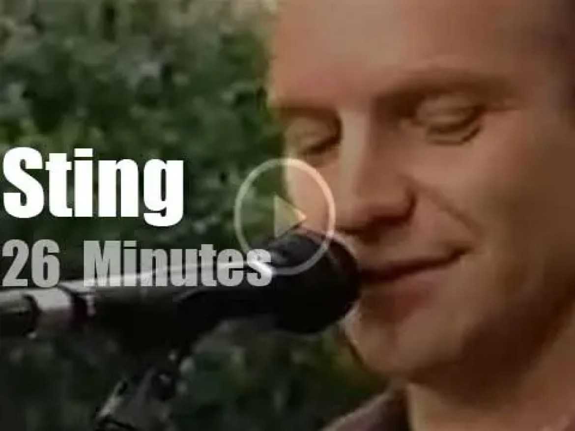 On TV today, Sting at 'The Today Show' (1999)