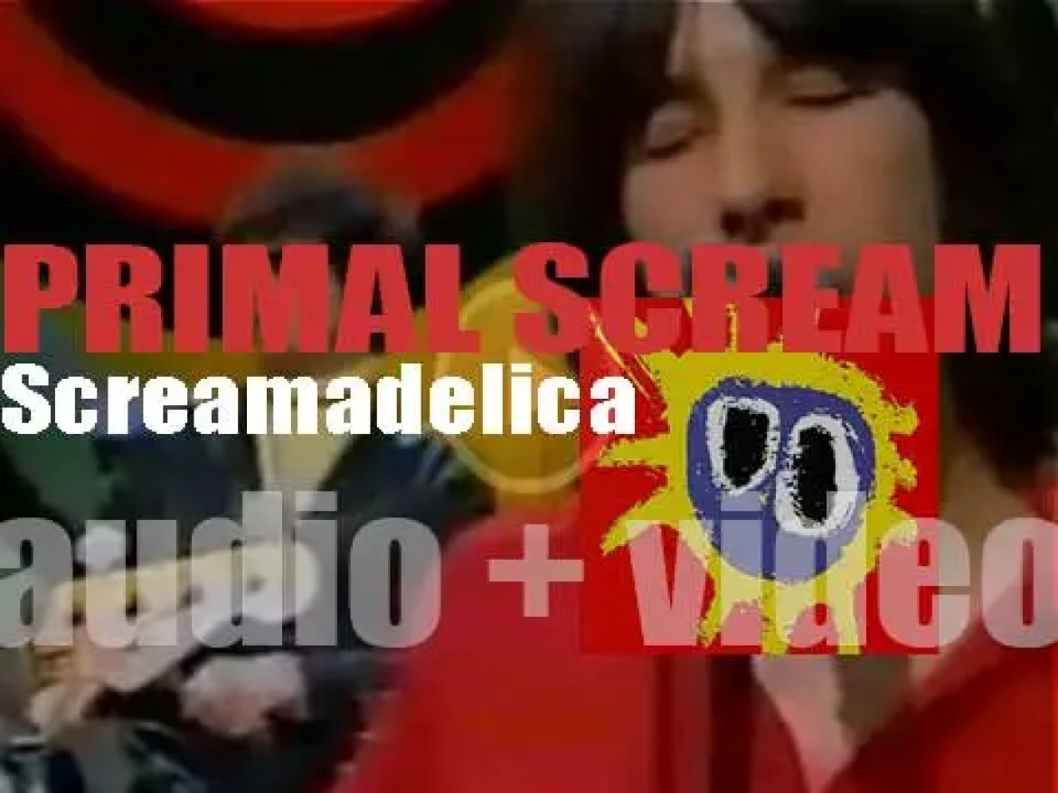 Creation Records publish 'Screamadelica,' Primal Scream's third album featuring 'Movin' On Up' and 'Loaded' (1991)