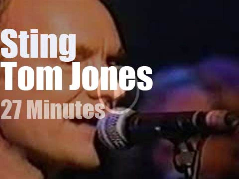 On British TV, Sting meets Tom Jones on Channel 4 (1999)