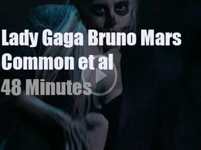 Gaga, Bruno, Common et al perform at a Grammy Nominations concert (2011)