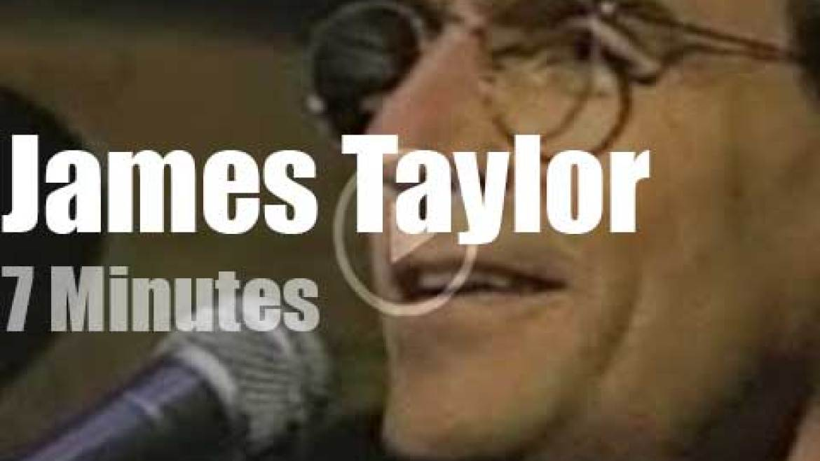 On TV today, James Taylor with David Letterman (1991)