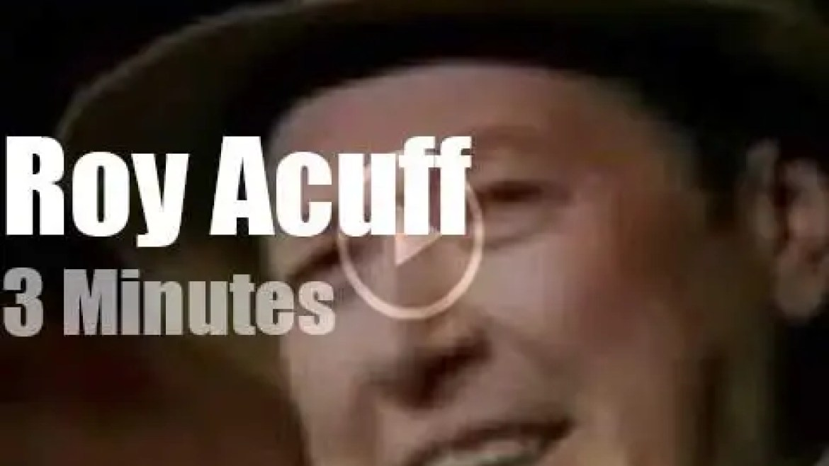On TV today, Roy Acuff at 'The Wilburn Brother Show' (1969)