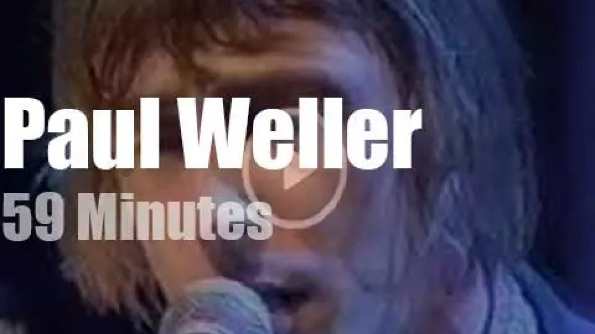On English TV today, Paul Weller at 'Later Presents…' (1996)