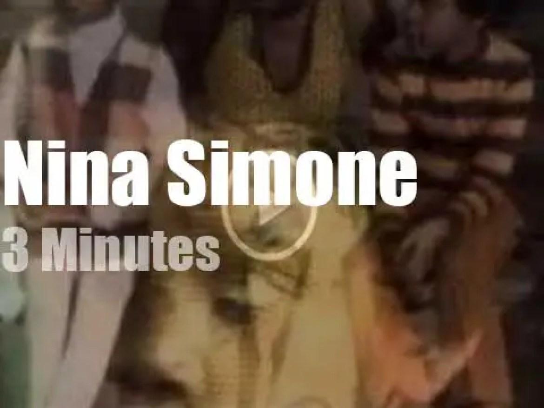 On TV today, Nina Simone at 'Sesame Street' (1972)