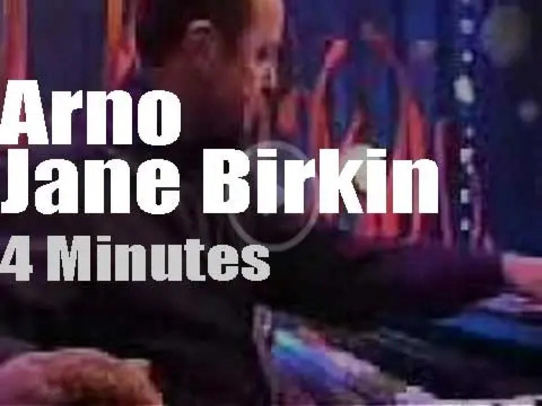 On Belgian TV today, Arno meets Jane Birkin (2002)