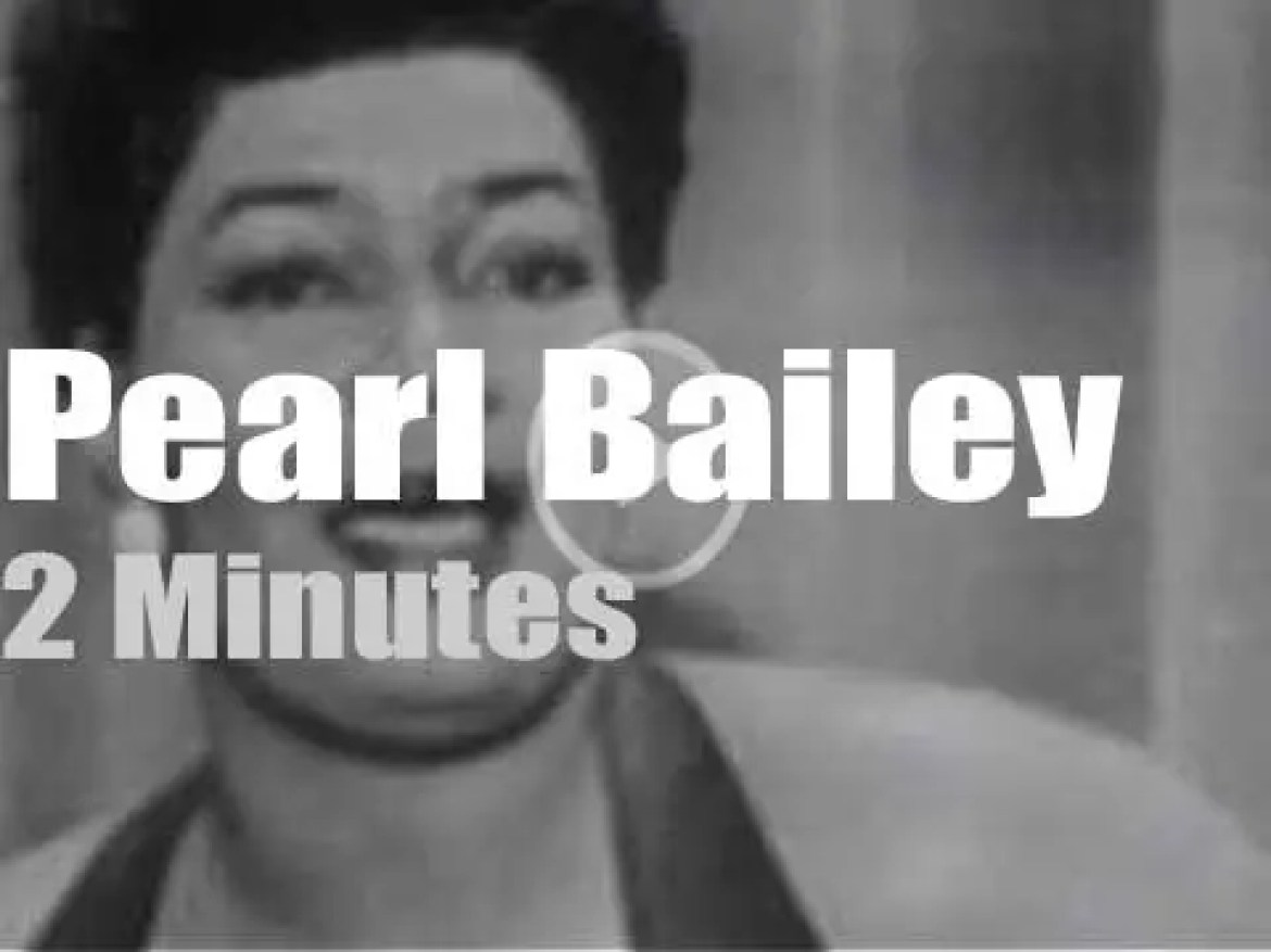 On TV today, Pearl Bailey with Ed Sullivan (1952)