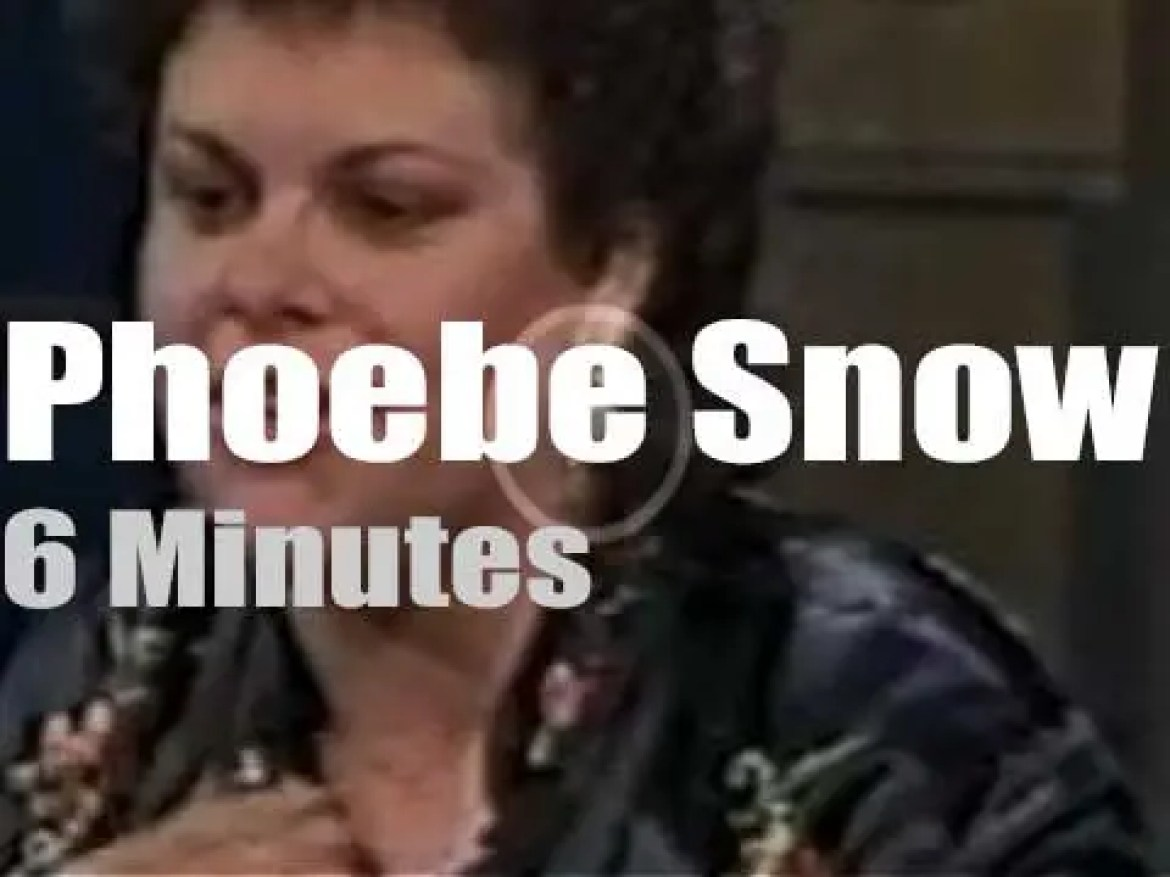 On TV today, Phoebe Snow with David Letterman (1983)
