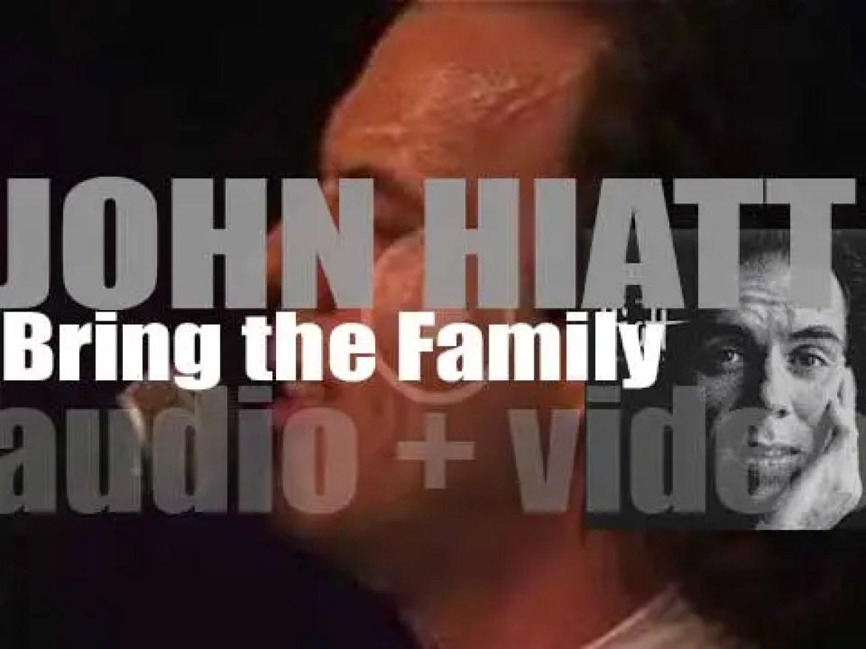 A&M publish John Hiatt's eighth album : 'Bring the Family' featuring Ry Cooder, Nick Lowe and Jim Keltner (1987)