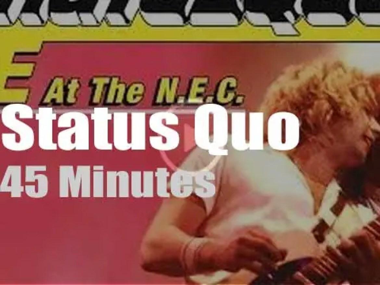 Status Quo rock Prince Charles and Birmingham (1982)