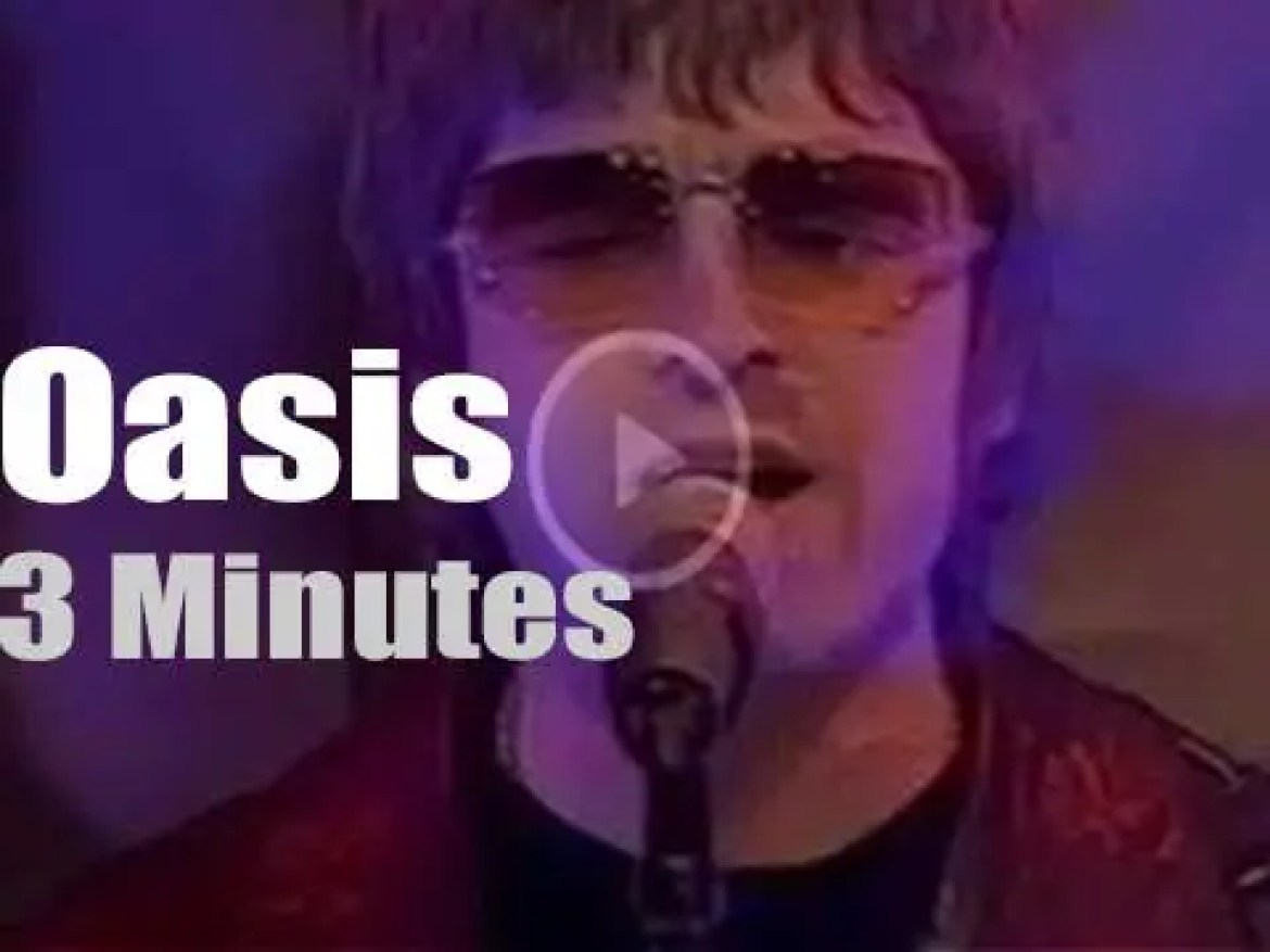 On British TV today, Oasis at 'Top Of The Pops' (2000)