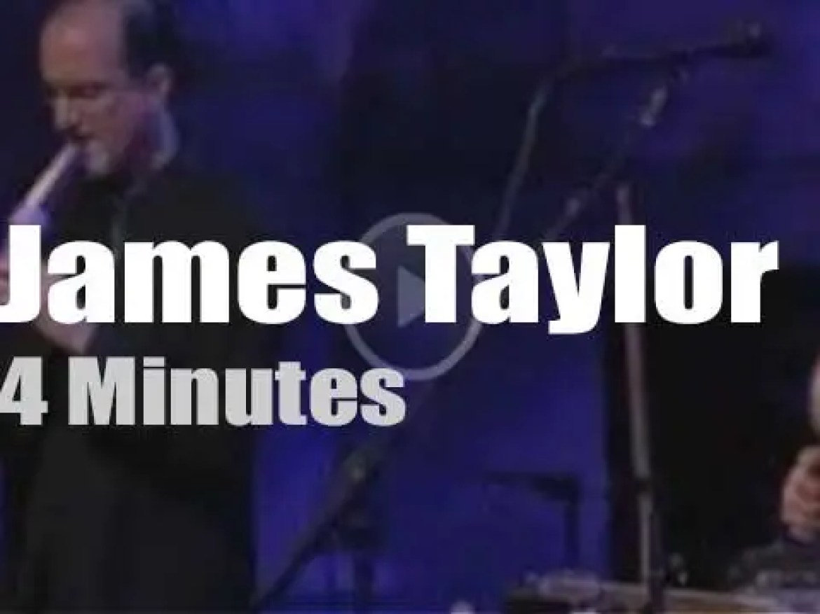 On TV today, James Taylor with David Letterman (1997)