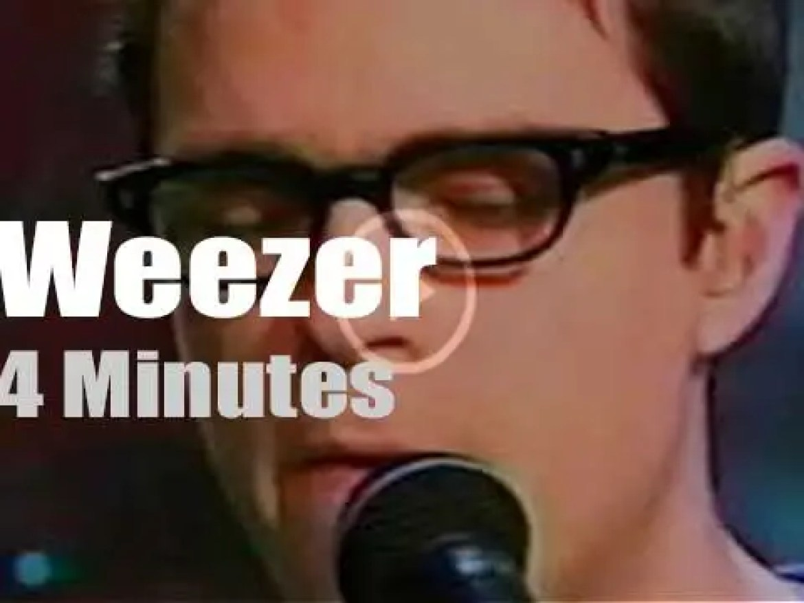 On TV today, Weezer with Jay Leno (2001)