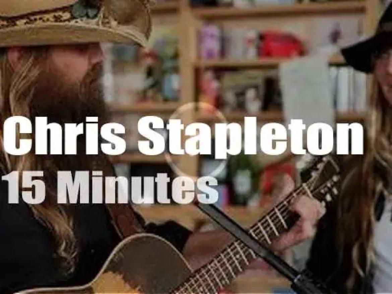 On Web TV today, Chris Stapleton at 'NPR Music Tiny Desk Concert' (2015)