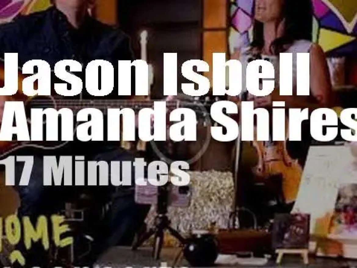 On web TV today, Jason Isbell and Amanda Shires at 'Tiny Desk (Home) Concert' (2020)