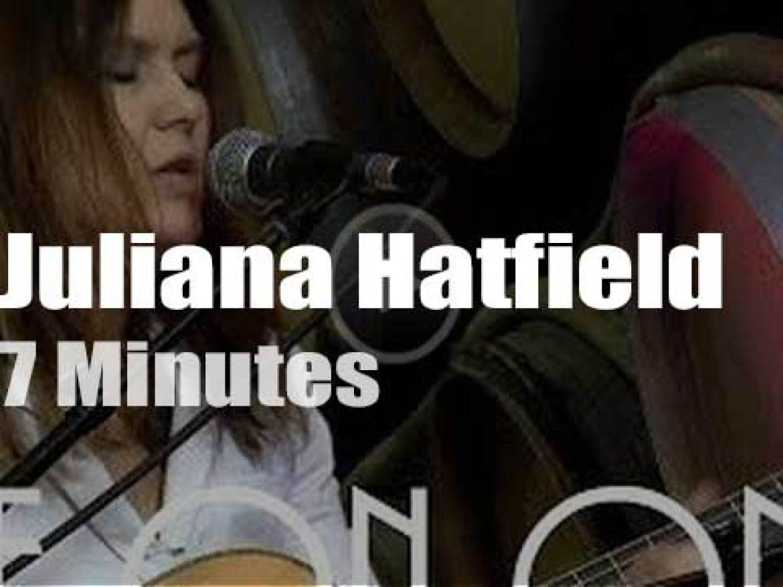 Juliana Hatfield sings at a New York Winery  (2017)