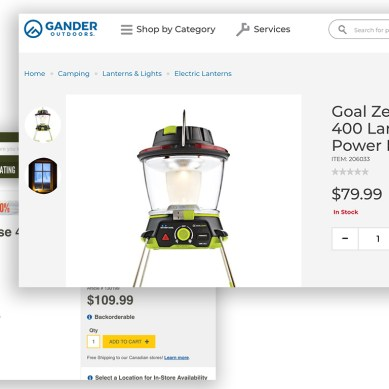 Gander Outdoors Website Launches with Prices That Wow