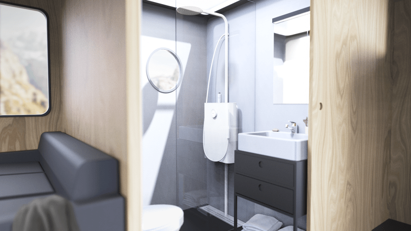 New Shower Recycles and Purifies to Use 90% Less Water