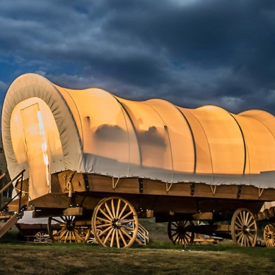 The Newest Glamping Craze – Conestoga Wagons