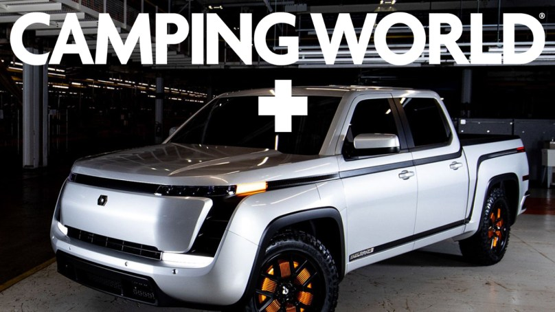 Camping World & Lordstown Plan EV Service Network, Budget Electric Motorhome